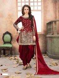 Tafeta Silk Casual Wear, Party Wear Designer Salwar Suit