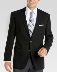 Mens Black Plain Corporate Black Blazer, Size: S, M & L