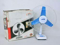Blue, White Three Oriental Table Fan