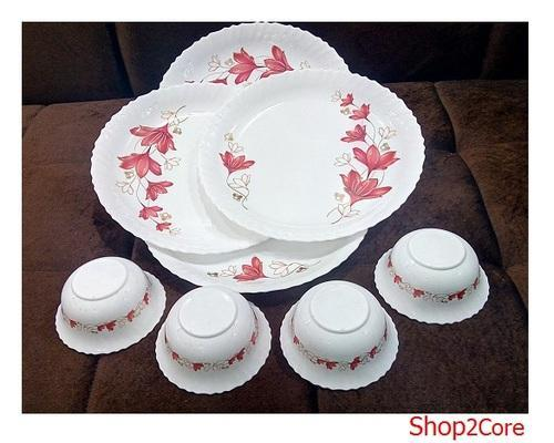 White Joyo Microwave Oven Safe 8 Pcs Dinner Set