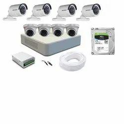 4 Outdoor+4 Indoor 2 MP CP Plus CCTV Camera 8 Camera 8 Channel DVR, Camera Range: 10 to 20 m