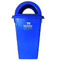 Blue Nilkamal Road Side Dustbin, Capacity: 100 L