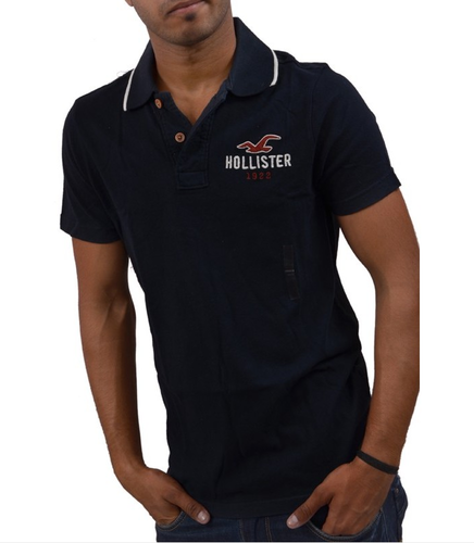 372e1801 Casual Wear Plain Hollister Men POLO T-Shirt Black, Rs 2221 /piece ...