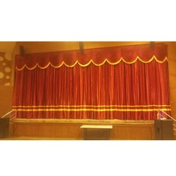 Orange Satin Stage Curtains