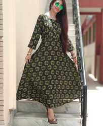 fac35fa585c Rayon Long Printed Dress