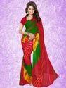 Shibori Print Chiffon Saree