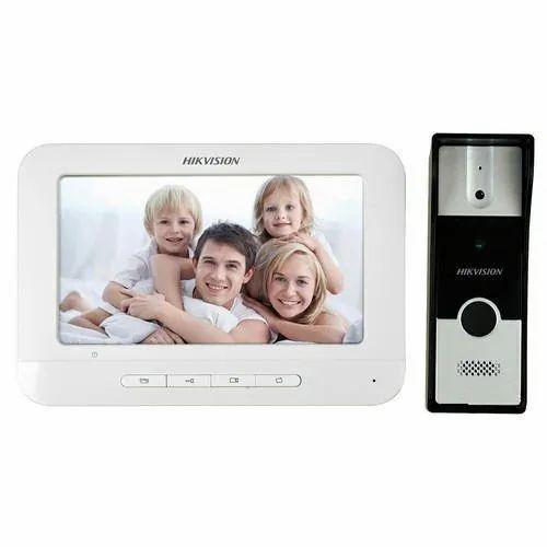White Plastic VDP Hikvision KIS-204 for Home