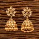 Girls Copper & Brass Antique Jhumkis With Gold Plating 200496