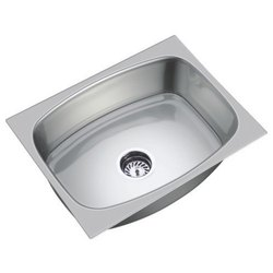Single Ready To Mount Stainless Steel Kitchen Sink, Size: 18