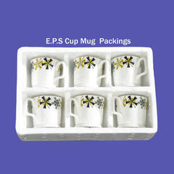 White Cup Mug Thermocol Packing, For Packaging, Thickness: 1 - 15 mm