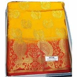 Kancheepuram Silk Ladies Party Wear Kanchipuram Saree, 6.3m, With Blouse Piece