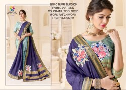 Rachna Art Silk Patch C-Buri Silk Catalog Saree For Women 8