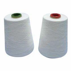 White Polyester Spun Yarn, Usage : Weaving & Embroidery