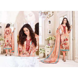Regular Wear Multicolor Print Dress Material