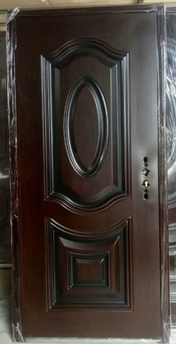 Wood Finish Single Steel Door
