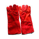 12 Inch Red Leather Hand Glove
