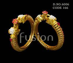 Elephant Design Ruby Matt Polish Bangles