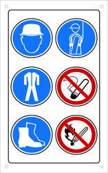 Radium Venyl PVC Safety Stickers, For Industrial Machinery, Packaging Type: Roll & Box