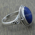 Lapis Lazuli Gemstone 925 Sterling Silver Jewelry Fine Ring