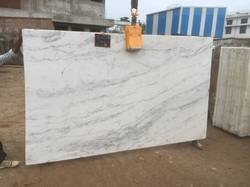 White Crystal Marble Stone Slabs, Usage: Kitchen Top, Countertop, Flooring, Walls, Staircase