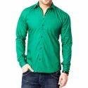 Full Mens Cotton Green Shirts