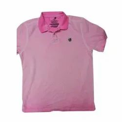 Pink Cotton Men Fluorescent Dyed T Shirt, Packaging Type: Packet