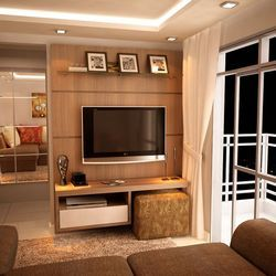 Tv Unit Design Interior In Thane Patlipada By Kumar Interior Id
