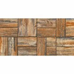 Matt Wenge Wood Elevation Tile, For Outer Wall and Balcony, TV Unit, Size: 24x12 Inch