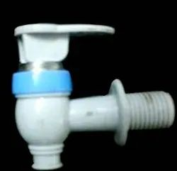 Plastic White And Blue Water Tap