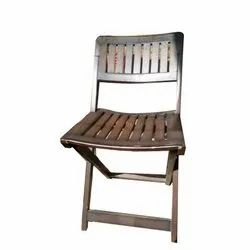 Brown Wooden Folding Chair, Finish: Polished
