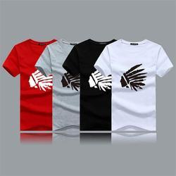 Red And Grey Men Corporate T Shirt