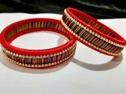 Party Wear Silk Thread Bangle