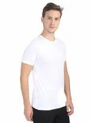 Custom Mens 100% White Cotton T Shirts