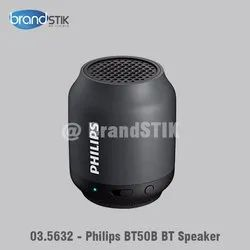Round Black Philips BT50B Wireless Portable Bluetooth Speaker, For Gifitng Purpose, Size: Small