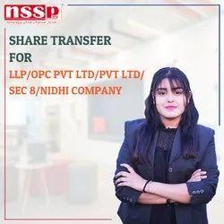 Share Transfer for LLP/OPC Pvt Ltd/Pvt Ltd/Sec 8/Nidhi Company