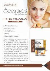 Creamish Matte Haldi Chandan Face Cream, Type Of Packaging: Jar With Box