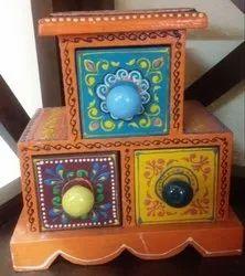 Multicolor Square Decorative Jewelery Box