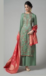 Chanderi Pakistani Style Suit
