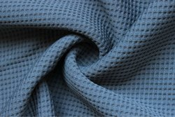 100% Cotton Soft Waffle Fabric Grey Color