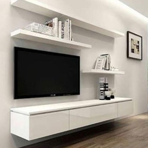 Wooden White Modern Tv Cabinet