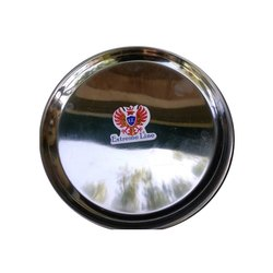 Stainless Steel Silver Dinner Plate