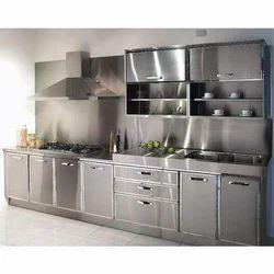 Straight Stainless Steel Kitchen