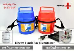 Power Plus Electra Lunch Box Steel - 3 Container