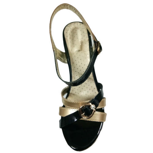 64b9a313b Women Party Wear Ladies Black And Golden Sandal