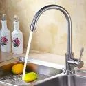 Stainless Steel Round Ss Long Body Sink Tap, For Kitchen, Packaging Type: Box