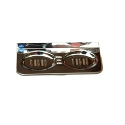Stainless Steel Silver double Soap Stand steal