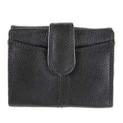 Ladies Genuine Leather Black Wallet