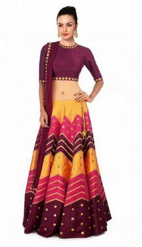 f03f727977 Multicolor Digital Printed Raw Silk Lehenga Choli at Rs 1799 /piece ...