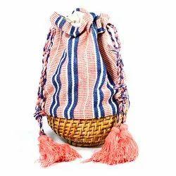 Wooden & Cotton Wooden Basket