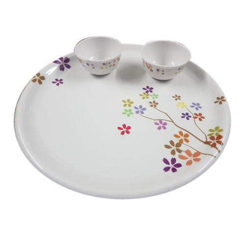 White Printed Melamine Plate Bowl Set Packaging Type Box
